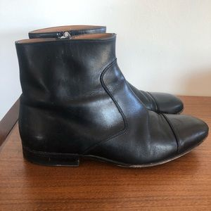 VINTAGE Bally Mens Black Leather Chelsea Boots